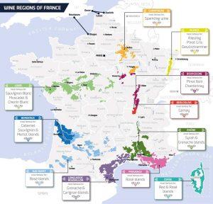 프랑스의 와인지도