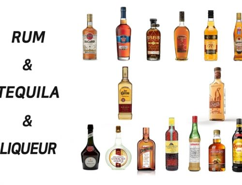 다양한 증류주 – 럼, 테킬라, 리큐르