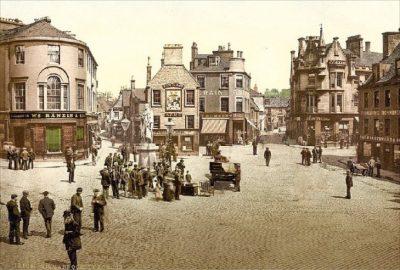 조니워커의 탄생지인 스코틀랜드 킬마녹의 19세기 초 풍경